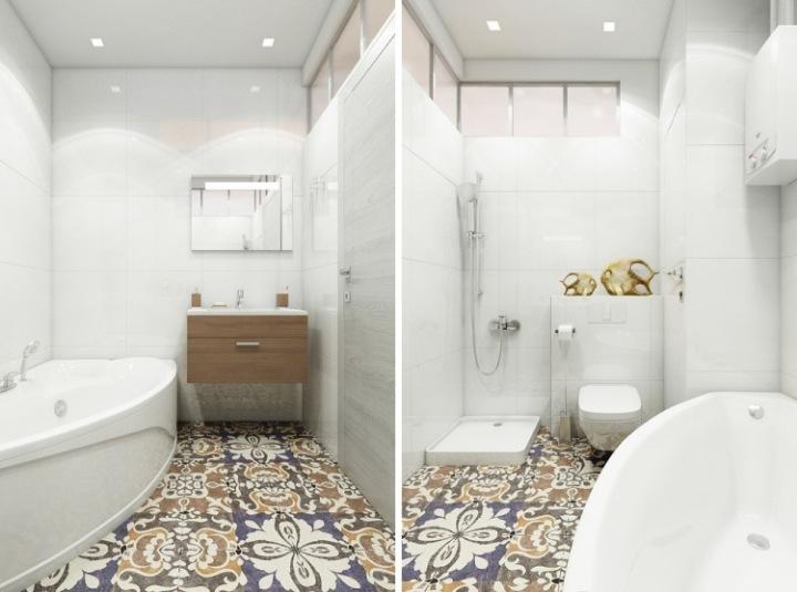 kleines-badezimmer-gemusterte-bodenfliesen-akzent